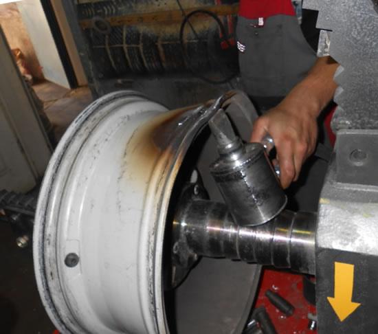 Нагрев ремонт литых дисков