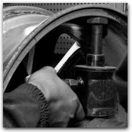 Прокатка литых дисков в железнодорожном